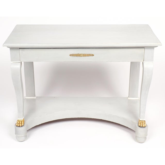 Wondrous Antique Empire Style Painted Console Table Theyellowbook Wood Chair Design Ideas Theyellowbookinfo