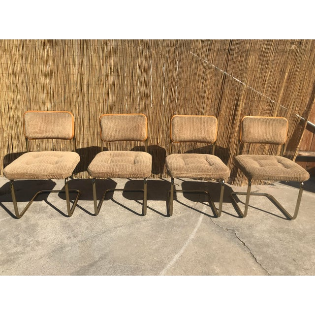 Set of 4 Marcel Breuer by Knoll Mid Century Chairs. In great vintage condition. Will shop for best shipping rates for buyer.