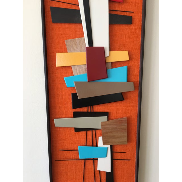 Mid-Century Modern Abstract Wall Sculpture Collage - Image 4 of 4