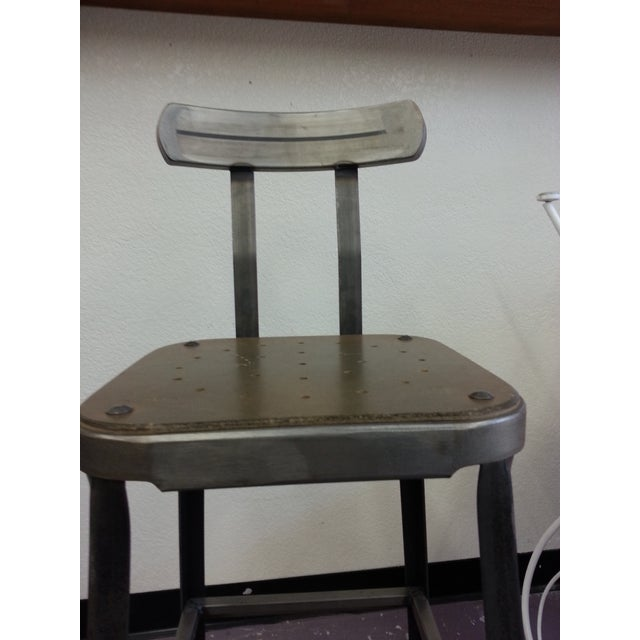 Industrial Steel Bar Stools - Set of 3 - Image 3 of 6