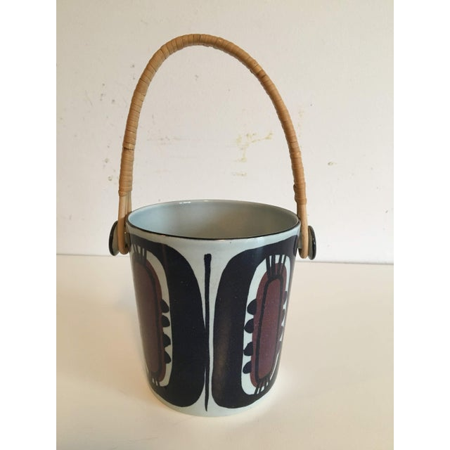Vintage Danish Royal Copenhagen Fajance Ice Bucket by Inge-Lisse Koefoed For Sale In Portland, OR - Image 6 of 6