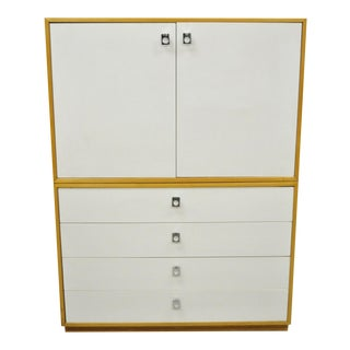 Mid 20th Century Jack Cartwright for Founders White Mid Century Modern Chest Dresser Cabinet For Sale