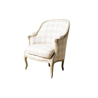 1920s Antique Checked Chair For Sale