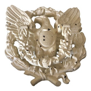 1970s Vintage Shabby Chic Eagle Door Knocker For Sale