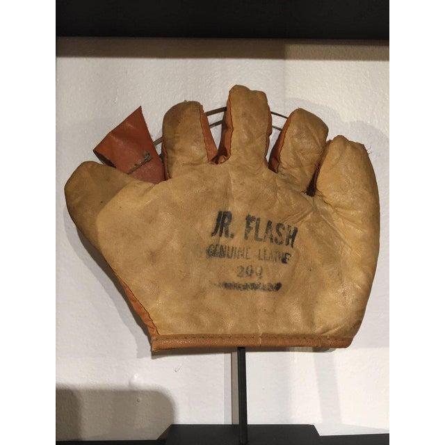 Rare Antique Miniature Children's Set of Nine Custom Framed Baseball Gloves Mitt - Image 6 of 10