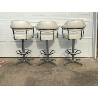 Mid Century Modern Daystrom Chrome Barstools- Set of 3 Preview
