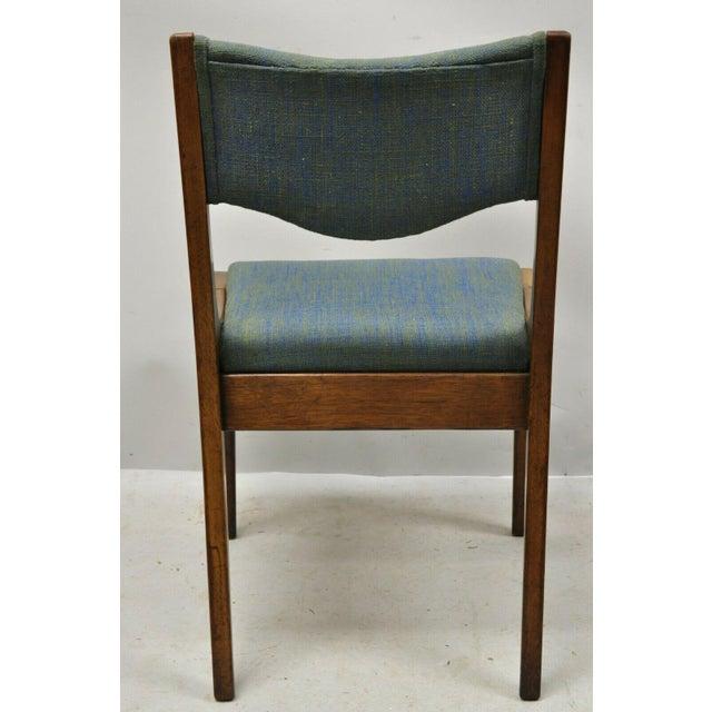 Wood Drexel Dateline John Van Koert Walnut Mid Century Modern Dining Side Chair (A) For Sale - Image 7 of 12
