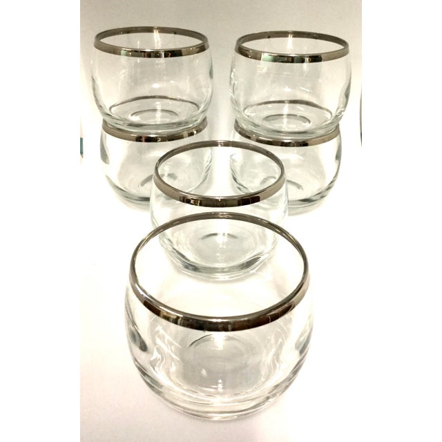 Metal 1960s Dorothy Thorpe Small Highball Silver Rim Glasses - Set of 6 For Sale - Image 7 of 7