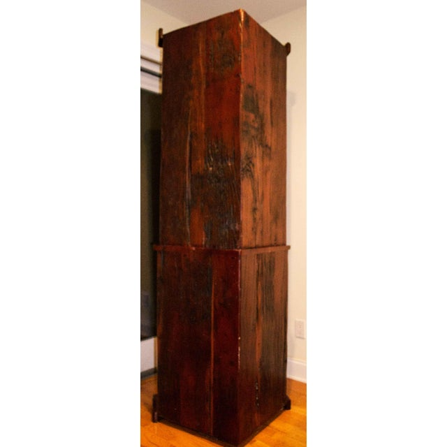 Antique Railroad Hand Carved Red Jarrah Wood Corner Bookcase - Image 9 of 13
