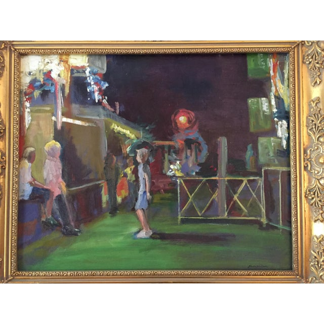"""Contemporary """"Carnival Night!"""" Contemporary Figurative Oil Painting by Marina Movshina, Framed For Sale - Image 3 of 11"""