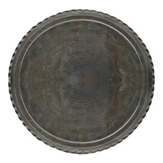 Vintage Copper Tray | Scalloped Edge