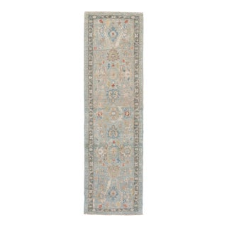 21st Century Modern Sultanabad Wool Runner Rug For Sale