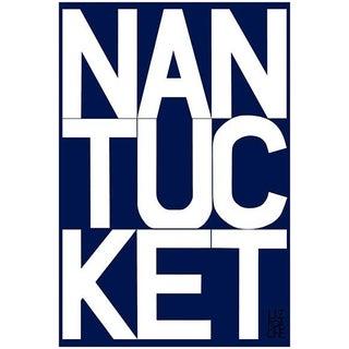 Nantucket Graphic Navy Fine Art Print by Liz Roache For Sale