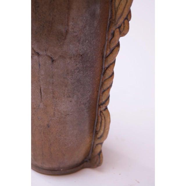 Studio Stoneware Vessel / Candleholder Signed Polk, 1974 For Sale - Image 10 of 13