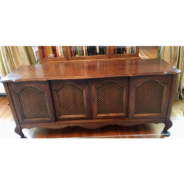 Credenza With Built-In Record Player & Stereo For Sale - Image 4 of 12