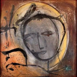 """Jamali Original """"Ashes II"""" Fresco Tempura Artwork For Sale"""
