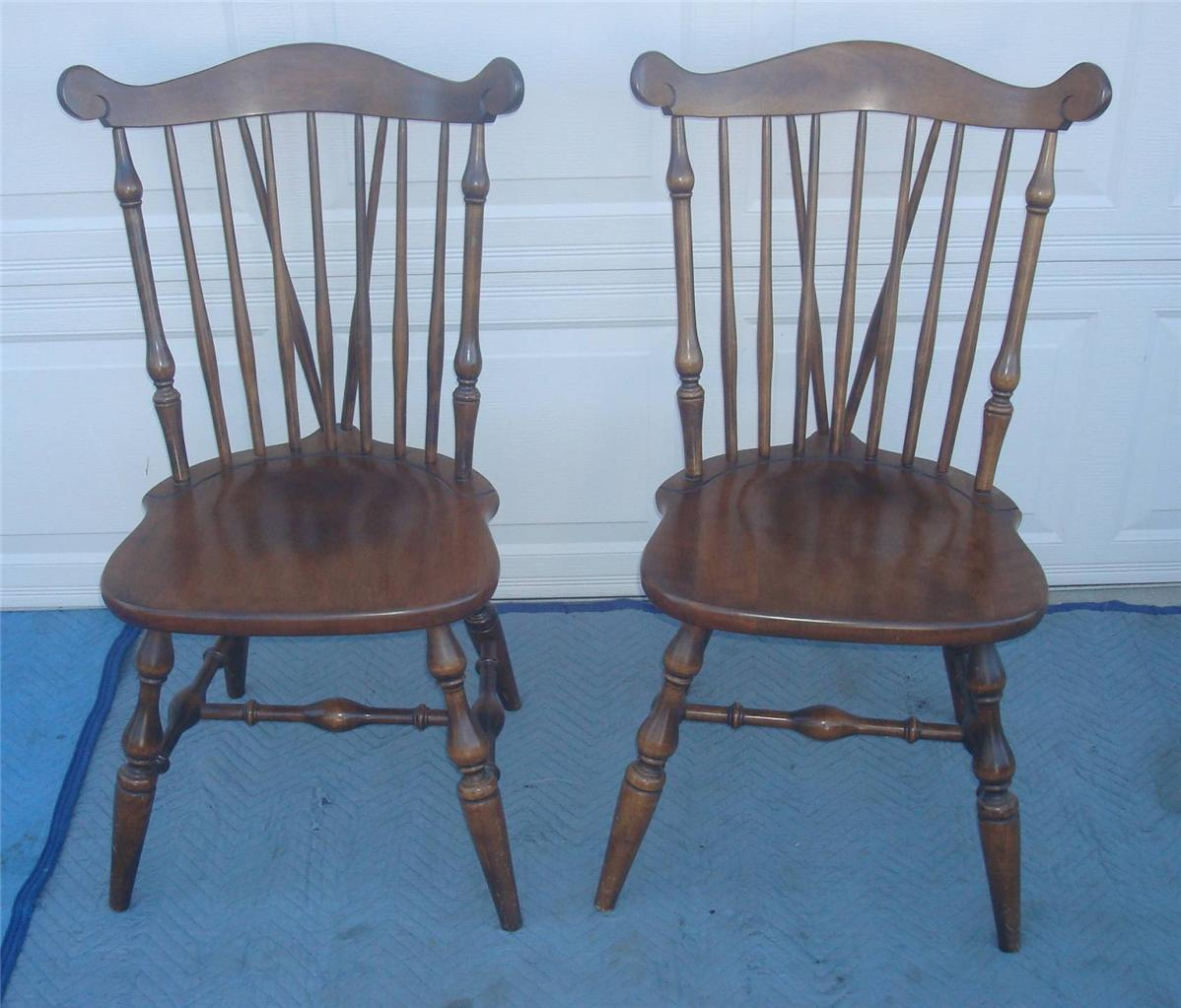 Early American Temple Stuart Windsor Chairs   Set Of 6   Image 5 Of 8