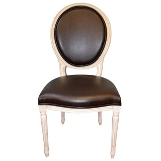 Louis XVI Style Oval Back Dining Chair Made in Italy for Custom Order. For Sale
