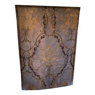 Single Lavendar Roman Shade With Designer Guild Fabric