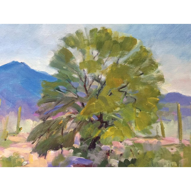 Southwest Landscape With Cactus and Mesquite Tree by Scola - Image 3 of 6