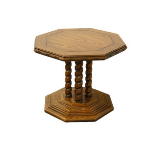Lane Furniture Mediterranean Rope Twist Octagonal Accent End Table For Sale