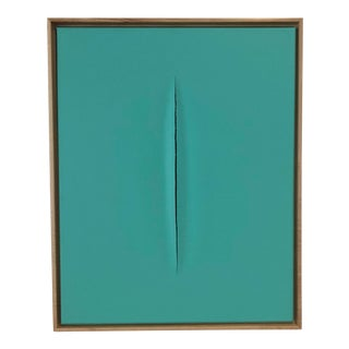 Unique Tiffany Blue Modern Art Painting by Tony Curry For Sale
