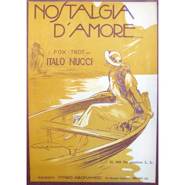 1925 Italian Music Sheet Love's Memory For Sale - Image 6 of 6