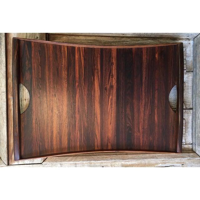 Wood Don Shoemaker Exotic Hardwood Serving Tray For Sale - Image 7 of 13