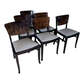 Ebonized 20th Century English Dining Chairs - Set of 6 For Sale