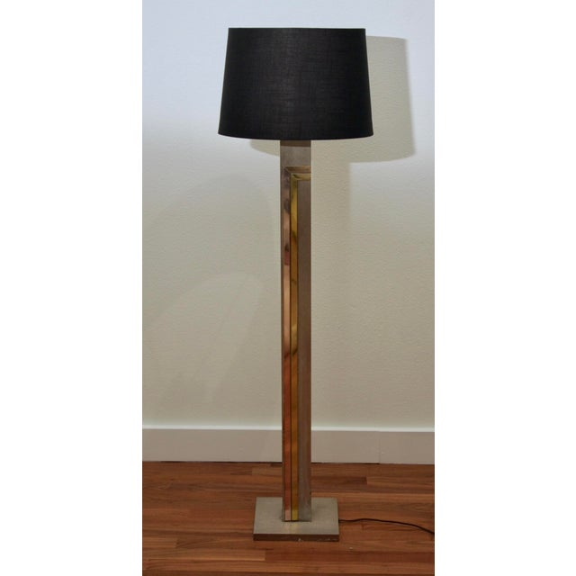 Completely fantastic, rare-to-market 1970s floor lamp by Pierre Cardin for Laurel featuring a brushed brass body with...