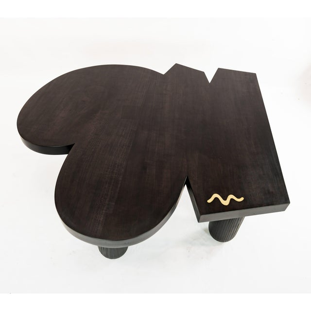 Blackened Maple Bollo Coffee Table For Sale - Image 6 of 6
