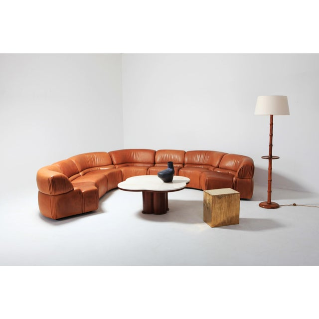 Sectional Cognac Leather Sofa 'Cosmos' by De Sede, Switzerland For Sale - Image 9 of 10