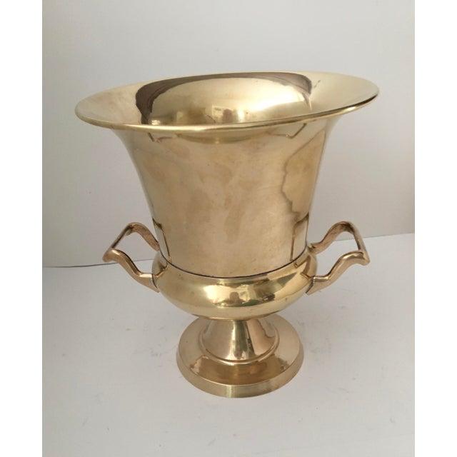 Vintage Brass Urn Shape Champagne Bucket Wine Cooler For Sale - Image 9 of 12
