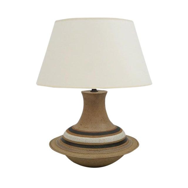 Mid Century Italian Ceramic Table Lamp by Bruno Gambone For Sale