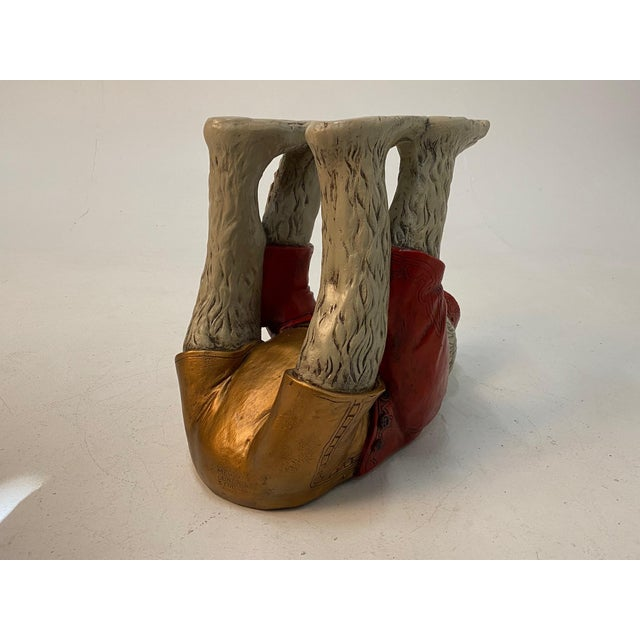 Plaster Monkey Motife End Tables Coffee Table -A Pair For Sale - Image 7 of 13
