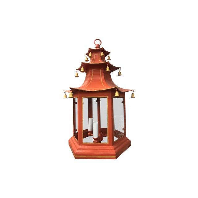 Three-Tier Pagoda Top Tole Lantern - Image 5 of 5
