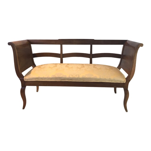1940s Vintage French Walnut Sofa Loveseat For Sale