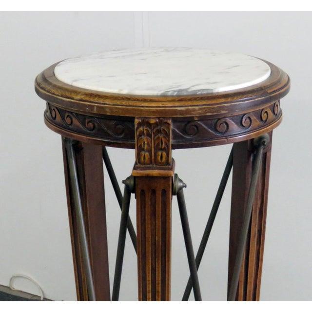 Hollywood Regency 20th Century Regency Grosfeld House Marble Top Pedestal For Sale - Image 3 of 10