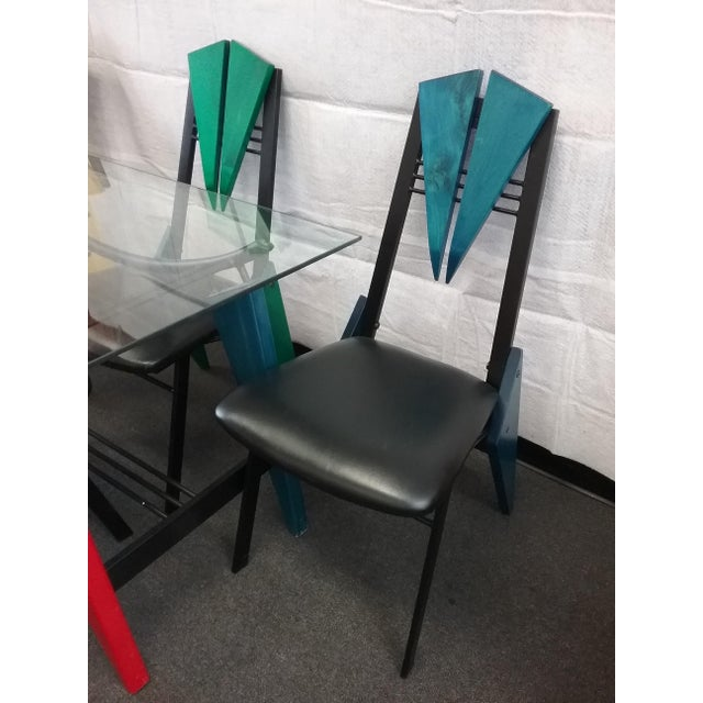 Art Deco Multicolor Dining Set - Image 3 of 6