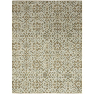 """Contemporary Hand-Knotted Area Rug 9' 3"""" x 12' 1"""" For Sale"""