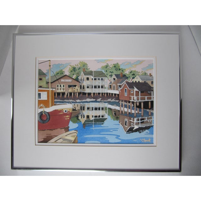 New England Watercolor Painting - Image 2 of 8