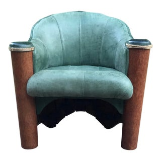 1990s Pacific Green Armchair For Sale