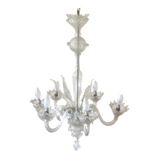 Clear Vintage Venetian Chandelier For Sale