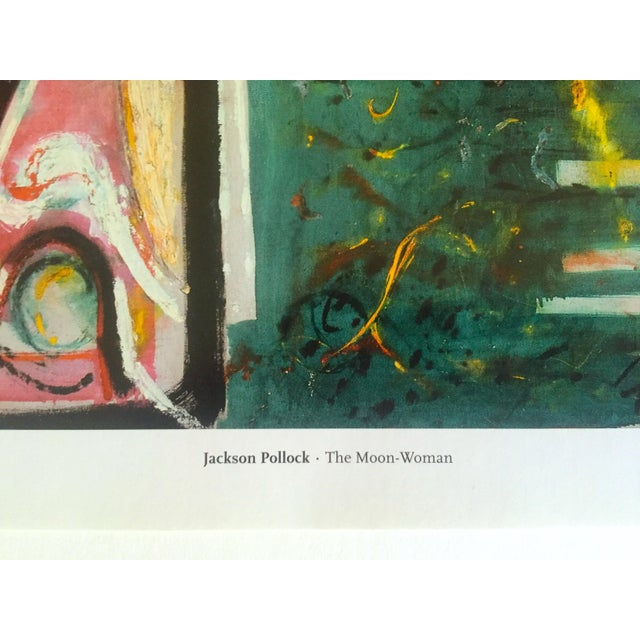 "Jackson Pollock Foundation Abstract Expressionist Collector's Lithograph Print "" the Moon - Woman "" 1942 For Sale - Image 10 of 13"