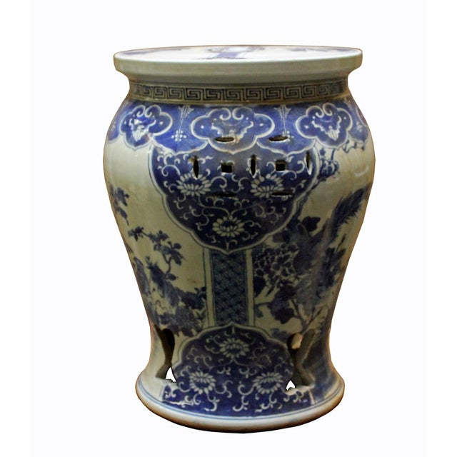 Chinese Blue & White Porcelain Stool - Image 7 of 8