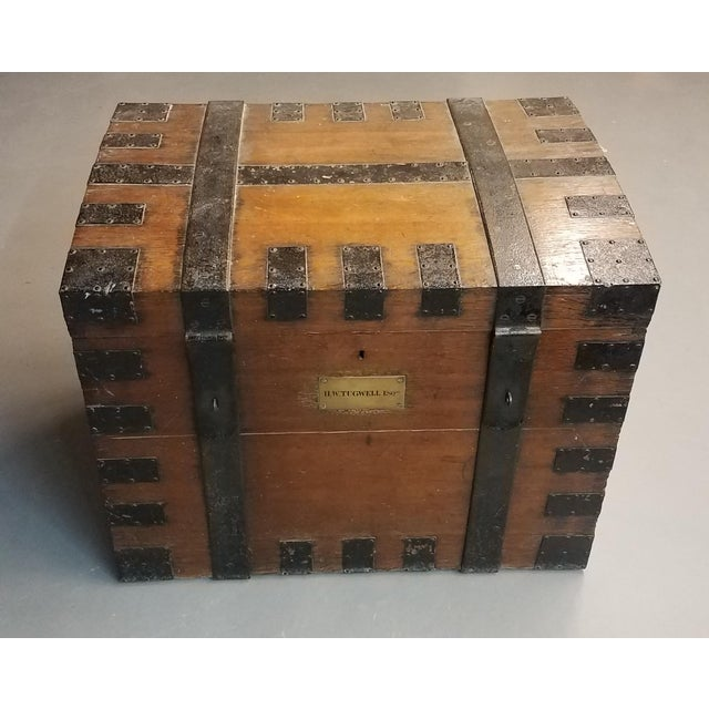 Late 1800s Oak Silver Trunk For Sale - Image 13 of 13