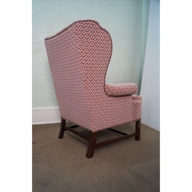 Baker Chippendale Style Wing Chairs - A Pair - Image 10 of 10