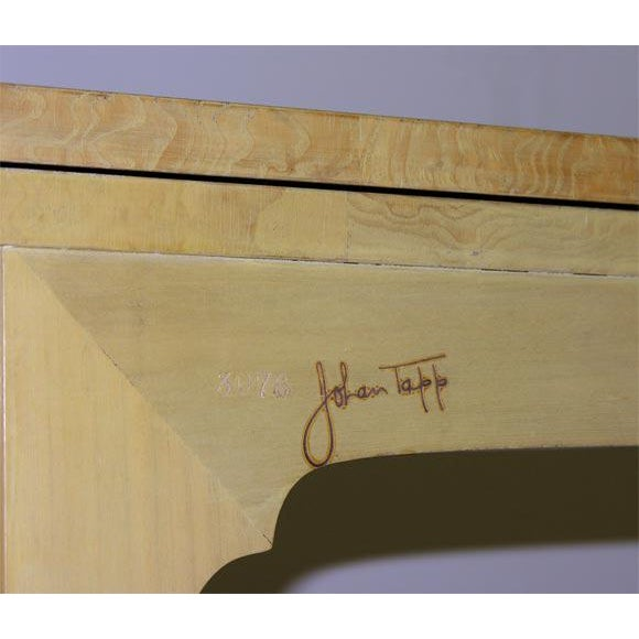 1940s Johan Tapp Custom Flip Top Console Server Table For Sale - Image 5 of 8