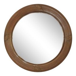 Vintage Regency Style Convex Mirror For Sale