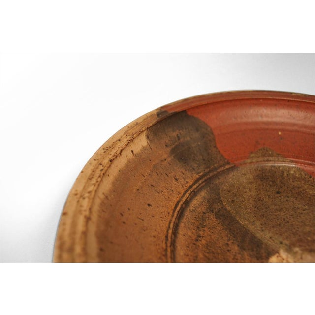 Ceramic Abstract Glazed Stoneware Charger For Sale - Image 7 of 9